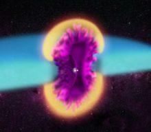 Captación de una explosión de una doble estrella